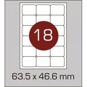 Етикетки самоклеючі на А4 18 шт