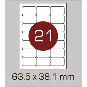 Етикетки самоклеючі на А4 21 шт